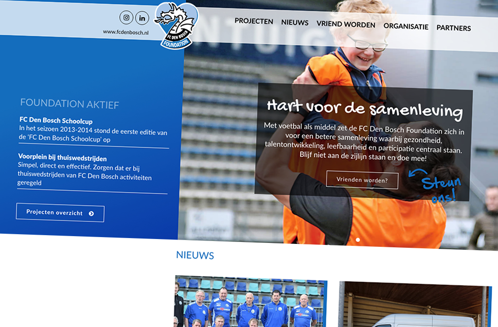 FC Den Bosch Foundation ~ website